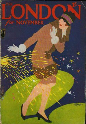 London magazine, November 1927. Illustration by Tom Purvis