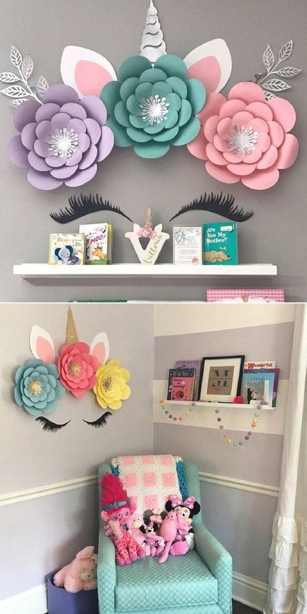 Diy Unicorn Flower For Unicorn Birthday Decoration Unicorn