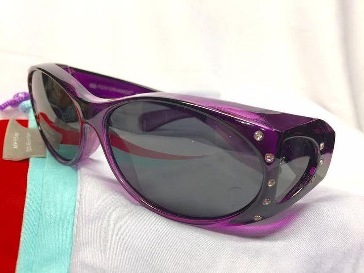 Fit Over Prescription Sunglasses Women Rhinestone Sun Shield Cover Over wrap RX #SunRayz #FitOverPrescriptionSunShield