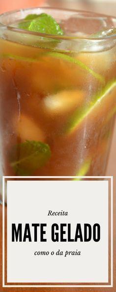 Receita de chá mate gelado com limão como o da praia