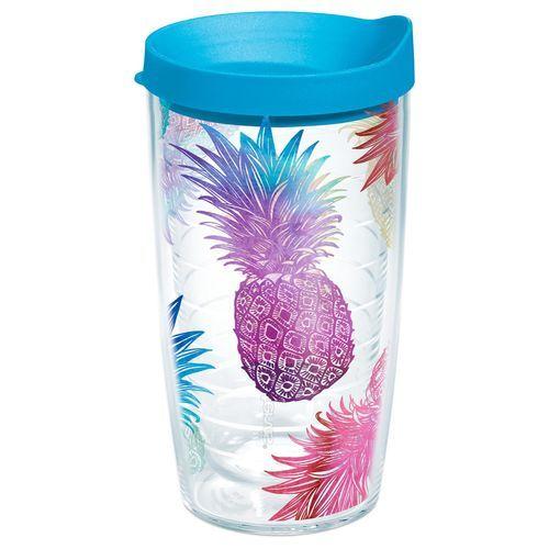 Tervis® Watercolor Pineapples Tumbler, 16 oz., , large