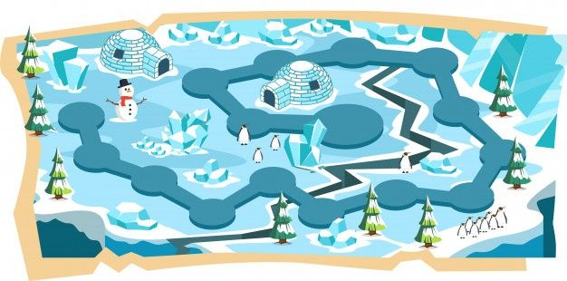 snow landscape 2d game maps with path and blue ice land | map games, map, game  2d  pinterest