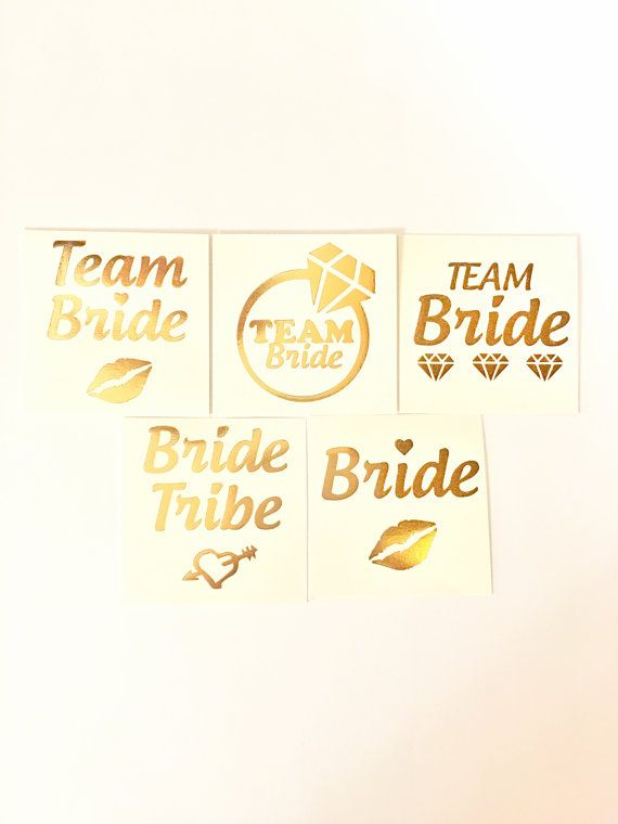 Gold Foil Bachelorette Tattoos make a great Bachelorette Party Favor for your bridesmaids, friends, theyre a fun addition to your party gift bags