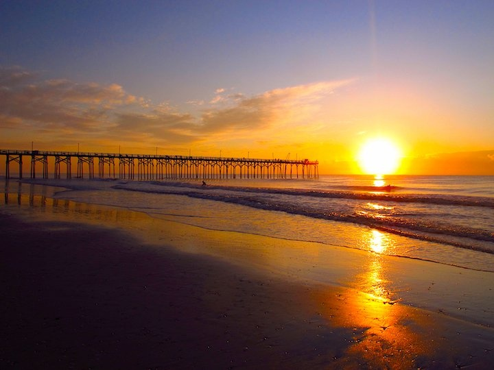 North Carolina beach: Carolina Beach, Beach House, Sunset, Nc Beach
