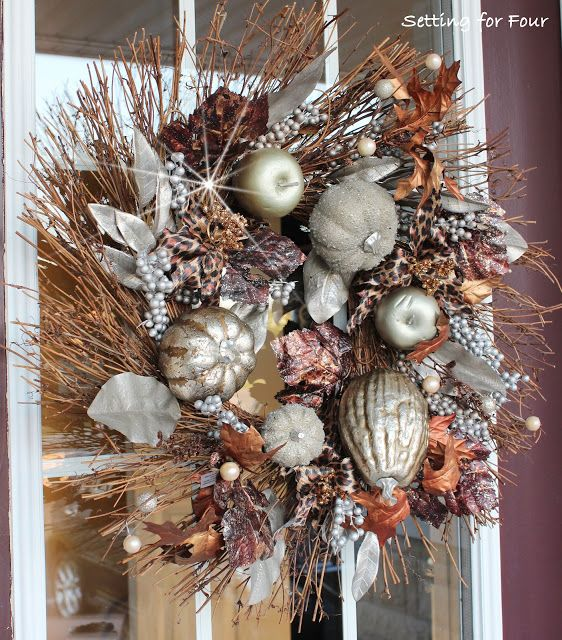 367 best images about fall wreaths and decorations on for 3 wreath door decoration