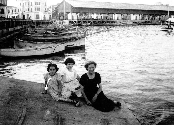 Castelló años 40. En el puerto de Castelló de la Plana a finales de la década.
