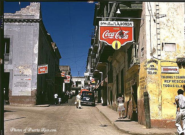 Vintage photo of Puerto Rico taken by Jack Delano
