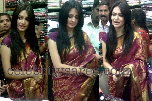 Kriti Kharbanda in Yellow and Pink Bridal Silk Sarees | Saree Blouse Patterns