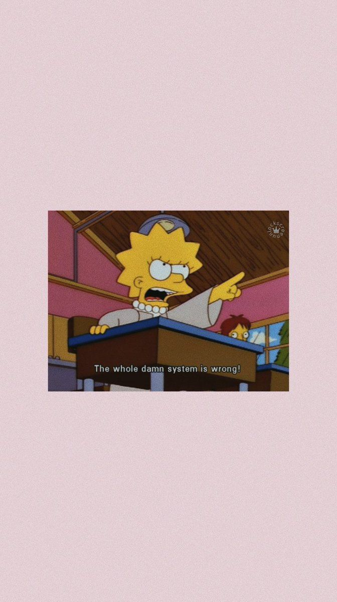 Lockscreen On In 2019 Mood Wallpaper Simpson Wallpaper
