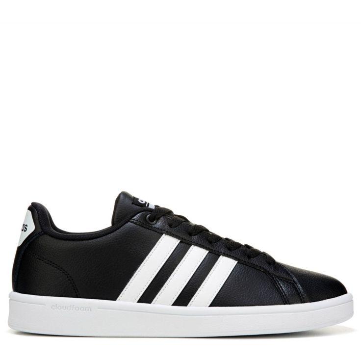 Adidas Men's Neo Cloudfoam Advantage Stripe Sneakers (Black/White) - 13.0 M