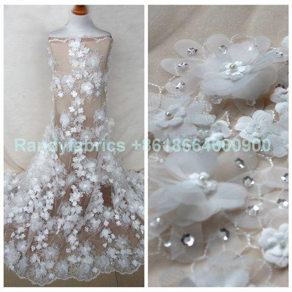 New fashion Off white/ light blue/light green 3D by Randyfabrics