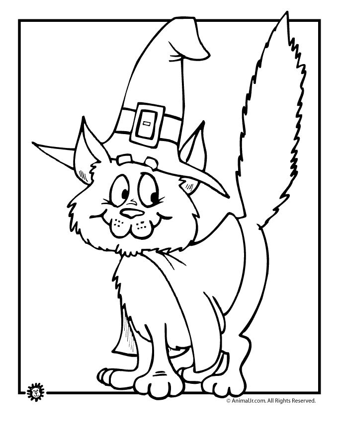 Fantasy Jr. | witch-cat-coloring