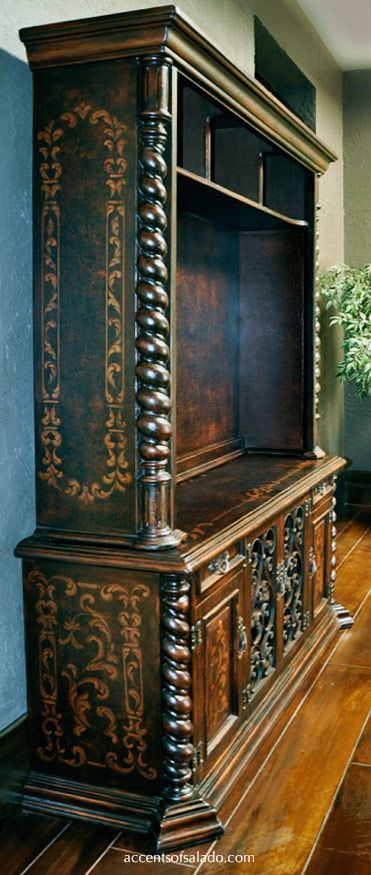 ♥Old World Entertainment Cabinet Gaxiola... unmistakably Mediterranean. See it accentsofsalado.com. We ship old world furniture nationwide.