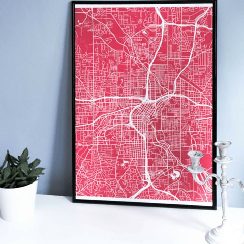 Turn Your Neighborhood Into A Sleek Wall Art With Grafomap Com Custom Map Print Creator
