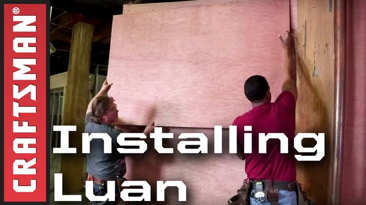 How To Install Luan Plywood Underlayment | Craftsman                                                                                                                                                                                 More