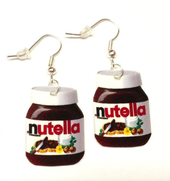 Nutella Earrings by KarinaMadeThis on Etsy, $5.00