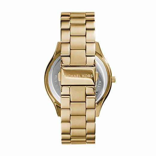Michael Kors MK3179 - Reloj de cuarzo con correa de acero inoxidable para mujer, color dorado: Michael Kors: Amazon.es: Relojes