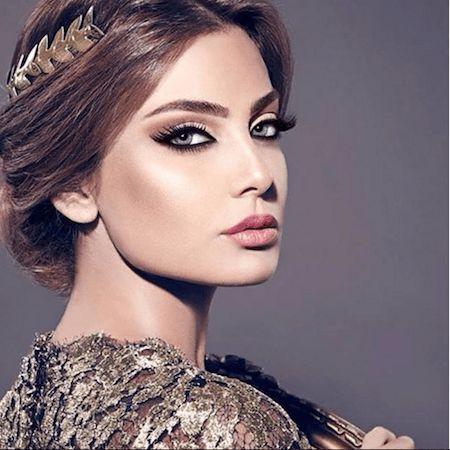 Un maquillage libanais sur cheveux chatains maquillage libanais glamour\u2026