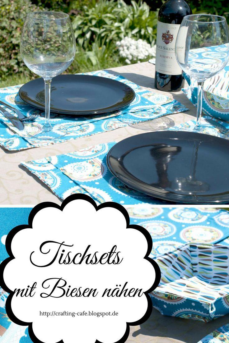 In diesem kostenlosen Tutorial zeige ich Schritt für Schritt, wie du Tischsets mit Biesen nähst - für die gelungene Gartenparty!