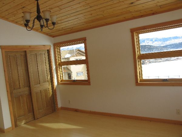 Pine Plank Ceiling Whitewashed Walls Wood Trim Wood