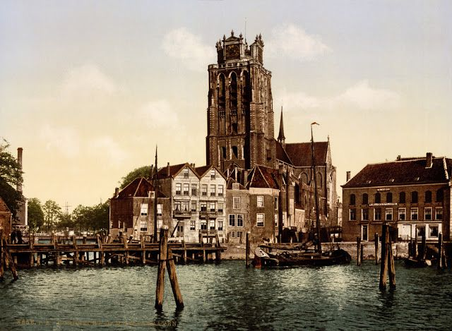 vintage everyday: Wonderful Vintage Photochrom Prints of the Netherlands before 1900