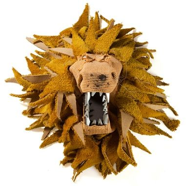 Johnston Foster | Lion Trophy | made with felt, wire, glue, carpet and polyethylene (not living creatures!)