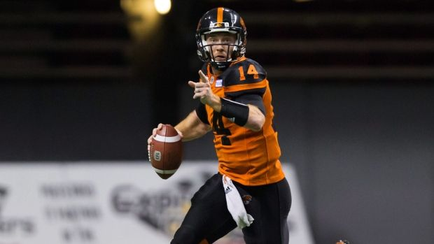 Sept.8 2017 - B.C. Lions quarterback Travis Lulay injured his right knee on the second play from scrimmage in Friday's game against the Montreal Alouettes Travis Lulay, The Canadian Press