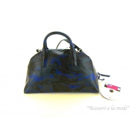 Borsa Gum by Gianni Chiarini a mano o tracolla color nero bluette