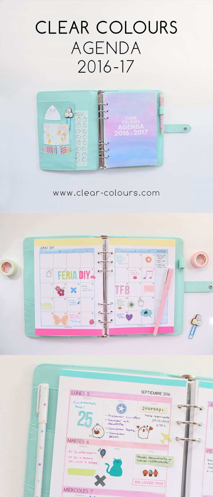 Clear Colours - Agenda 2016-17 (16 meses)