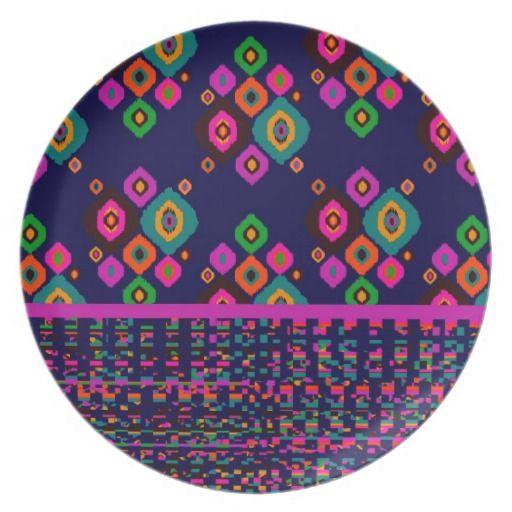 Ikat Weave Dinner Plate