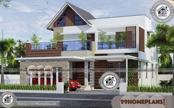New Model House Front Elevation 100 Double Balcony House