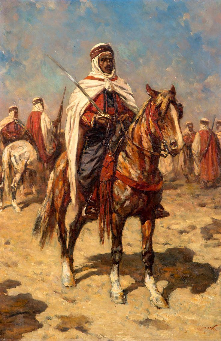 Hermanus Willem Koekkoek - Arabieren te paard