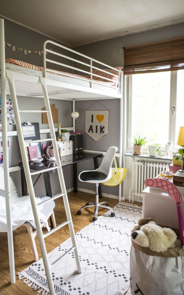 """This is 6 year old Alicias room, see """"Before"""" photos on the blog. She was over the moon to see this...can't Believe it's only 4sqm."""