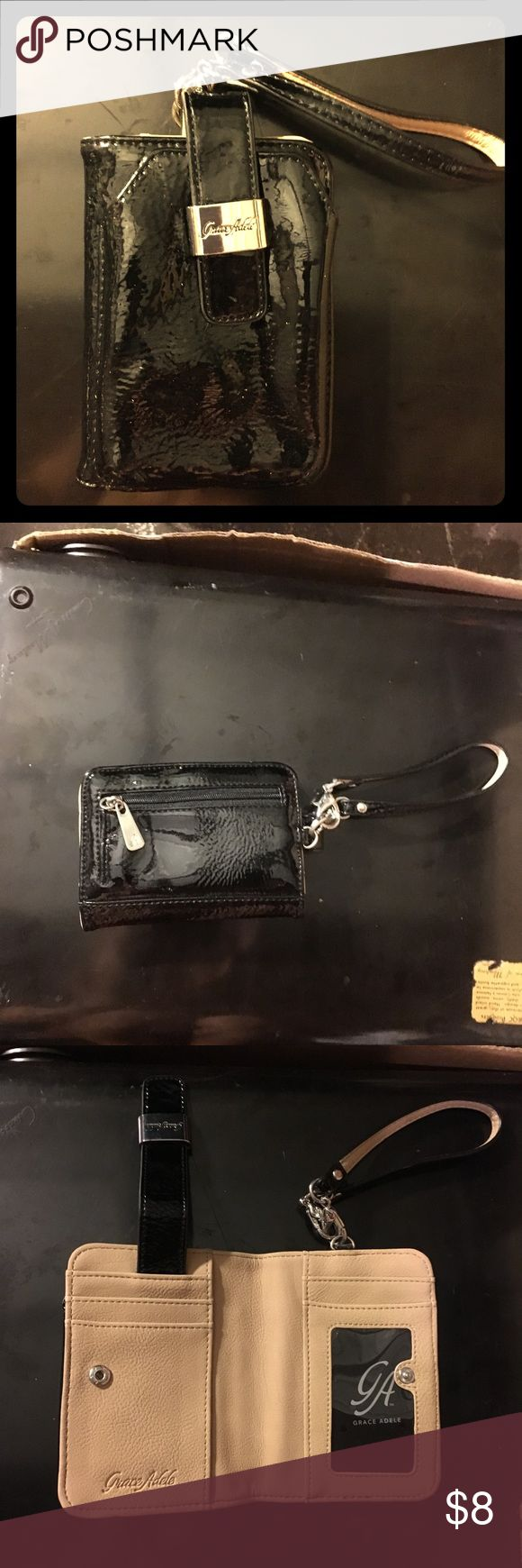 Grace Adele wallet cell phone wristlet Patent leather wallet/clutch Grace Adele Bags Clutches & Wristlets