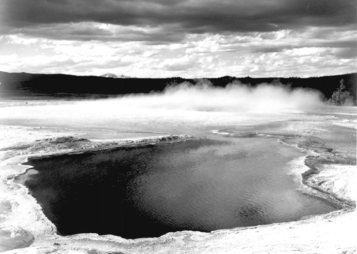 712 best ansel adams photos images on pinterest ansel adams fountain geyser pool yellowstone national park ansel adams photographs of sciox Images