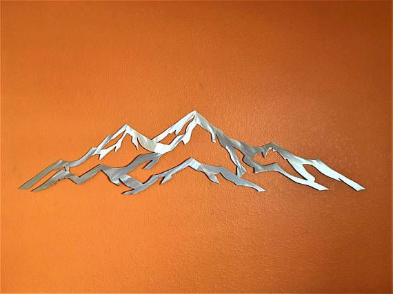 Metal mountain range of Aspen Mountain / Modern Art / Aspen
