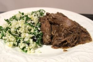 Slow cooked Spiced Leg of Lamb