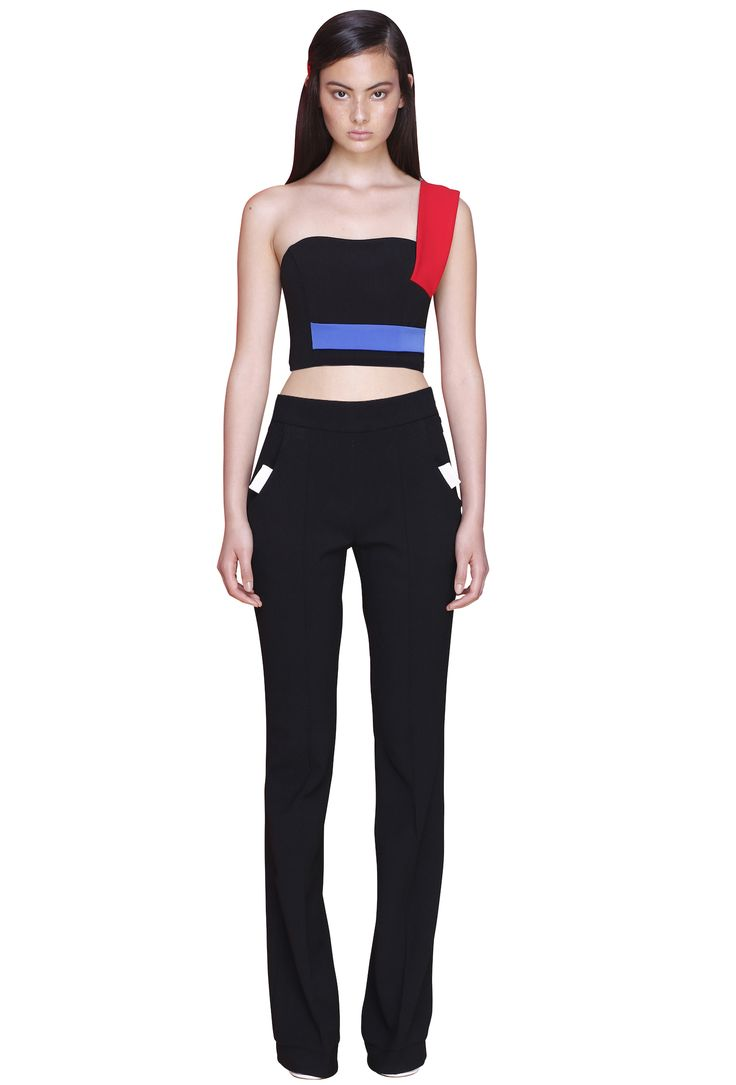 PRIMARY CROP BUSTIER  #byjohnny #abstrACTION #SPRING2015 #AUSTRALIANFASHION