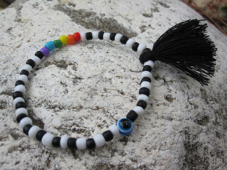 Rainbow Bracelet by MykonosByBoni on Etsy