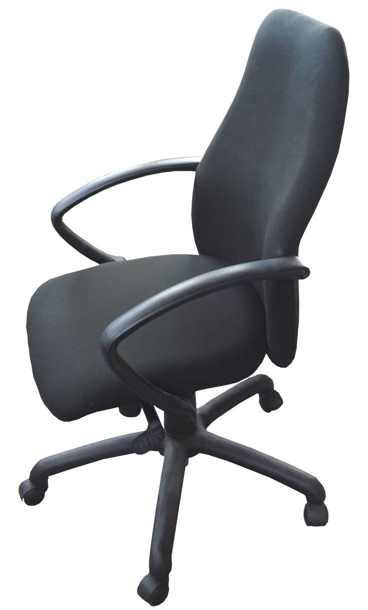 Black highback typist chair with gas & tilt @ R795.00 (Re-upholstered)