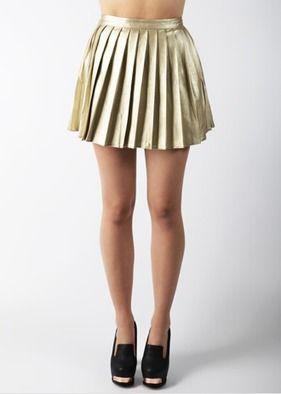 MINKPINK, Altın pileli etek  Daha fazlası:  http://www.hipnottis.com/tasarim-etek/minkpink-altin-pileli-etek