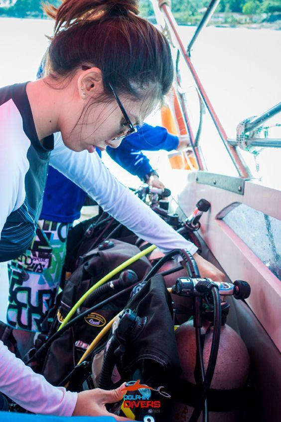 Gedz Chonlapin, Divemaster internship 2016 @Dolphin Divers #Koh Chang,Thailand