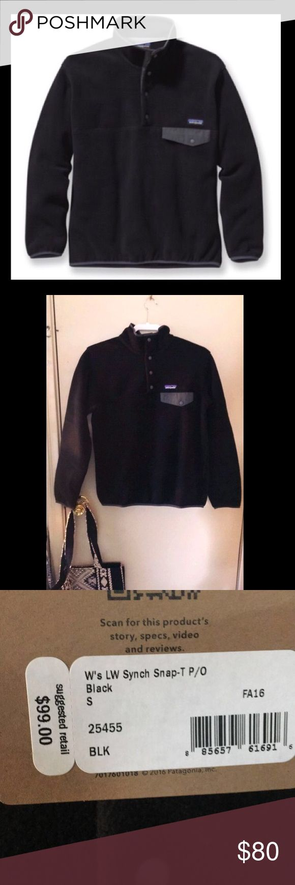 Patagonia Synchilla Jacket Black Patagonia synchilla jacket, NWT, unworn and in brand new condition!!! Patagonia Jackets & Coats