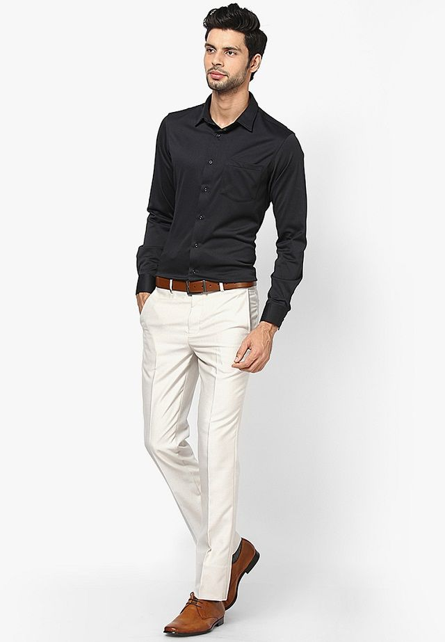 Menu0026#39;s Guide To Perfect Pant Shirt Combination | Shirts Pants And Cream