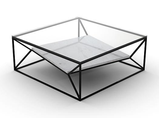 Arvo Coffee Table (Base Only, Glass Can Be Ordered Separately)