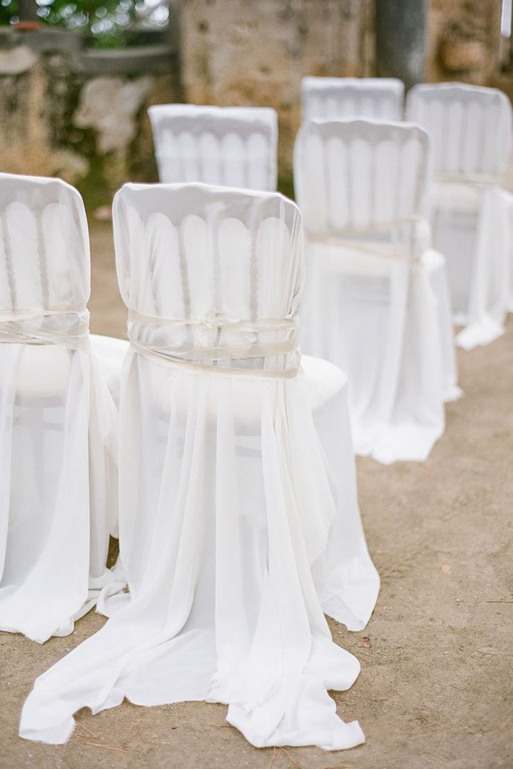 Often forgotten but always a style star in the making, chic chairs can take your ceremony site and elevate it to a whole new level.   - HarpersBAZAAR.com