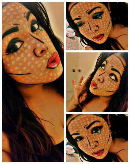 Awesome makeup for Halloween! :) Comic girl! (Yasmin Morales )