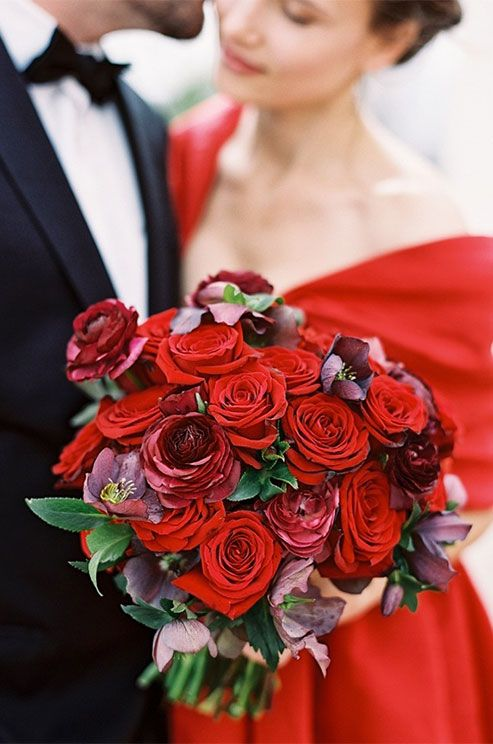 Red Garden Rose Bouquet 156 best red, burgundy & marsala bouquets images on pinterest