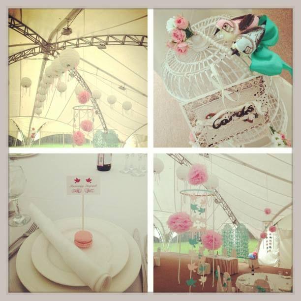 22 best wedding decoration images on pinterest wedding decor mint pink cage decor wedding decoration macaroni paper balls presidium junglespirit Choice Image