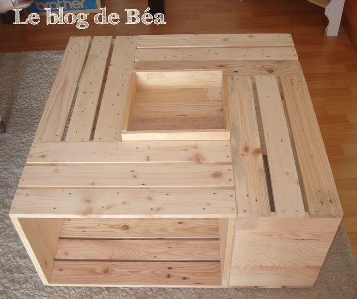 10 images about les diy et pas pas du blog de b a on pinterest livres b - Fabrication table basse palette ...